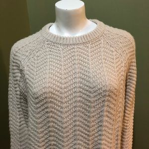 H&M Thick Tan Detailed Knit Sweater